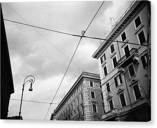 Rome's Downtown Cable Sky Canvas Print