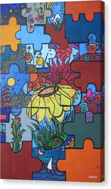 Rompecabezas Canvas Print by MikAn 'sArt