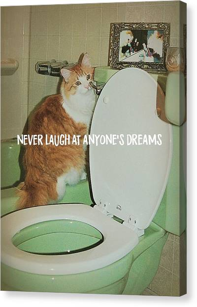 Ron At The Loo Quote Canvas Print by JAMART Photography