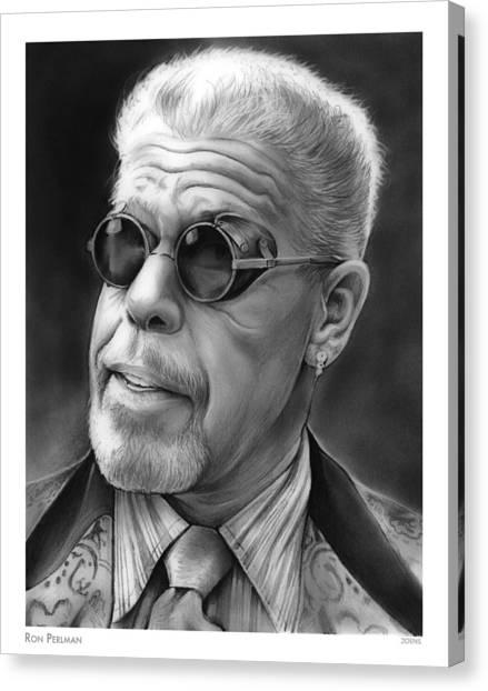 Beast Canvas Print - Ron Perlman by Greg Joens
