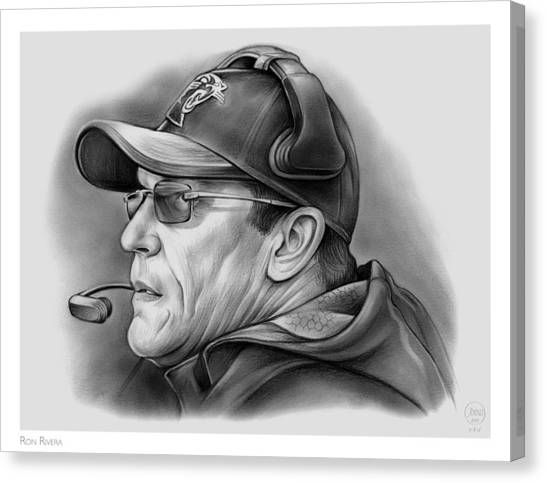 Nfl Canvas Print - Ron Rivera by Greg Joens