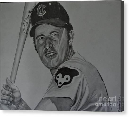 Ron Santo Portrait Canvas Print
