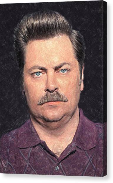 Eggs And Bacon Canvas Print - Ron Swanson by Zapista