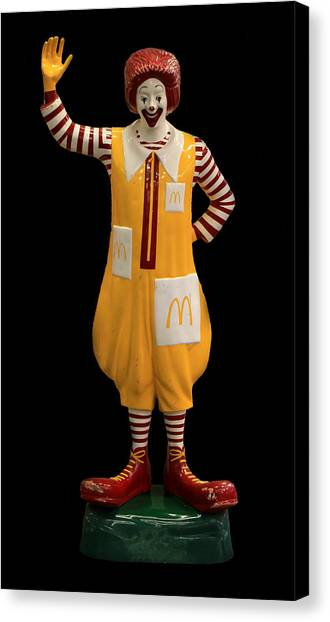 Fast Food Canvas Print - Ronald Mcdonald by Andrew Fare