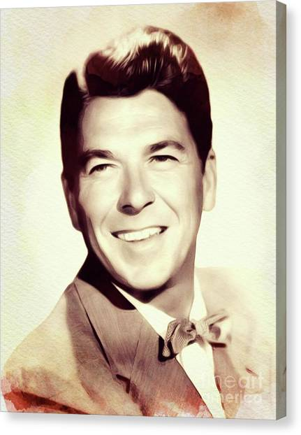 Ronald Reagan Canvas Print - Ronald Reagan, Actor/president by John Springfield