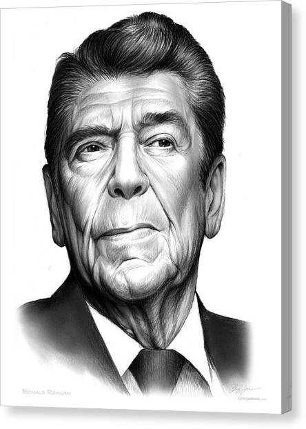 Ronald Reagan Canvas Print - Ronald Regan by Greg Joens