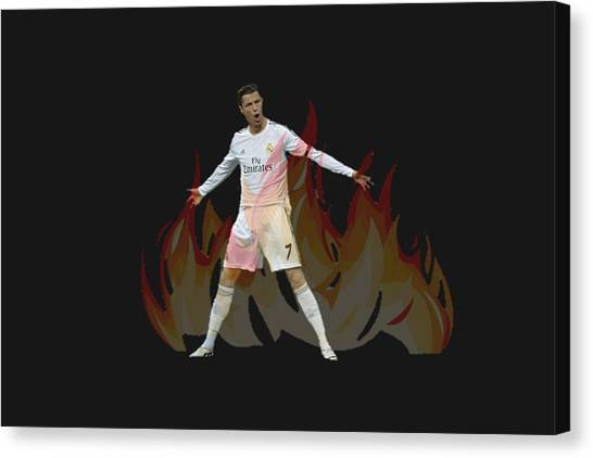 Xabi Alonso Canvas Print - Ronaldo by Vincenzo Basile