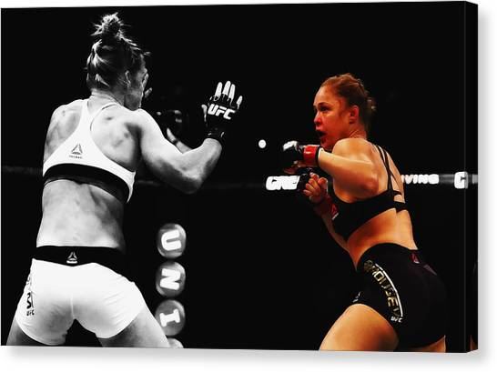 Ric Flair Canvas Print - Ronda Rousey 4l by Brian Reaves