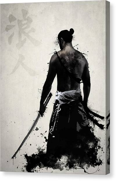 Ancient Art Canvas Print - Ronin by Nicklas Gustafsson