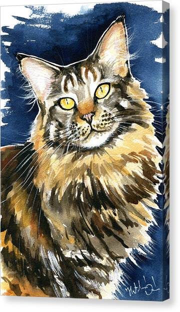 Ronja - Maine Coon Cat Painting Canvas Print