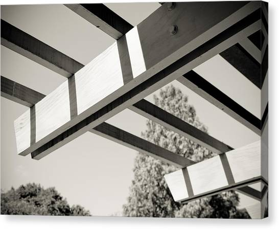 Roof Beams Canvas Print by Edward Myers
