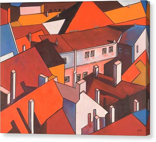 Roofs Of Prague Canvas Print
