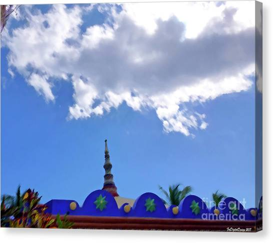 Canvas Print - Rooftop And Sky by Francesca Mackenney