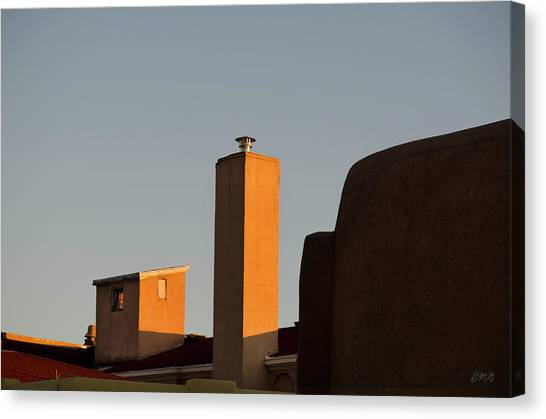 Chimney Tops Canvas Print - Rooftops At Last Light by Dave Gordon