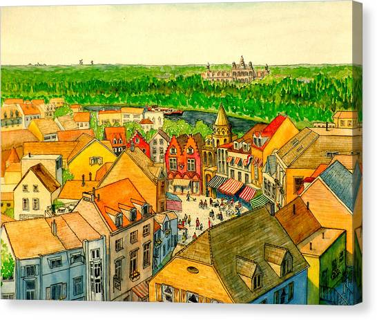 Rooftops Of Holland Canvas Print