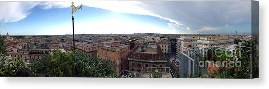 Rooftops Of Rome Canvas Print