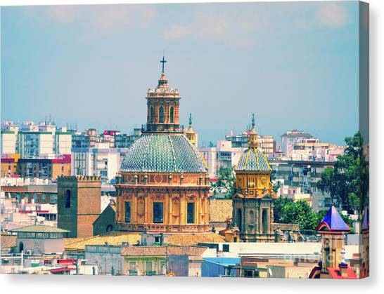 Incarnation Canvas Print - Rooftops Of Seville - 1 by Mary Machare