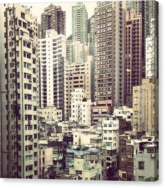 Hong Kong Canvas Print - Room With A View by Antonia Devine