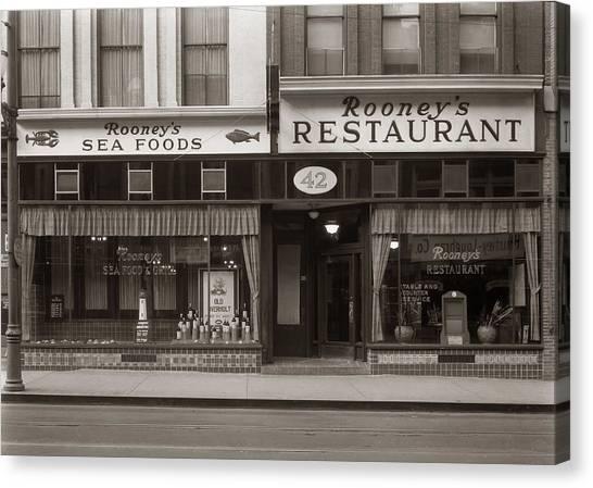 Rooney's Restaurant Wilkes Barre Pa 1940s Canvas Print