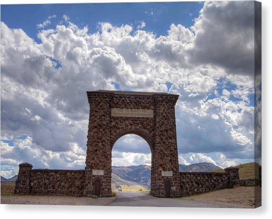 Roosevelt Arch Canvas Print