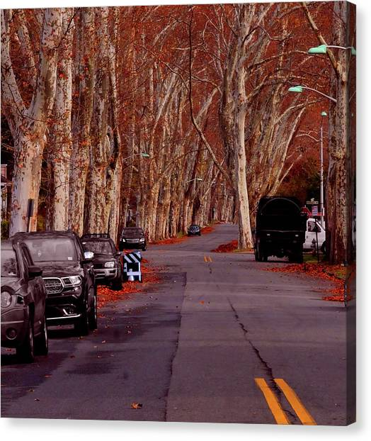 Roosevelt Avenue Red Canvas Print