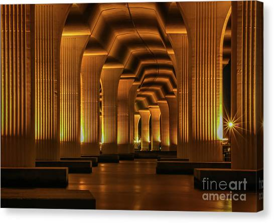Canvas Print featuring the photograph Roosevelt Night Shot by Tom Claud