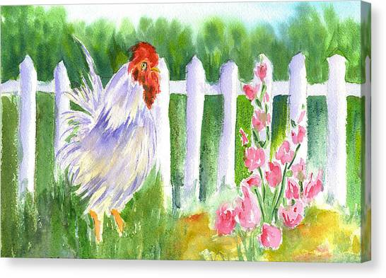 Rooster 05 Canvas Print by Ruth Bevan