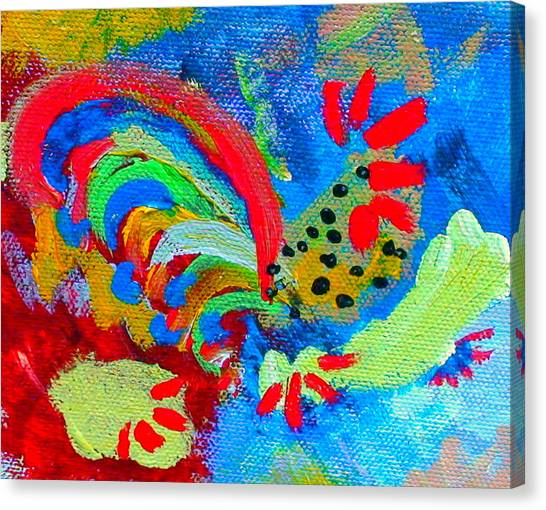 Rooster In The Sky From The Fairy Queen Canvas Print
