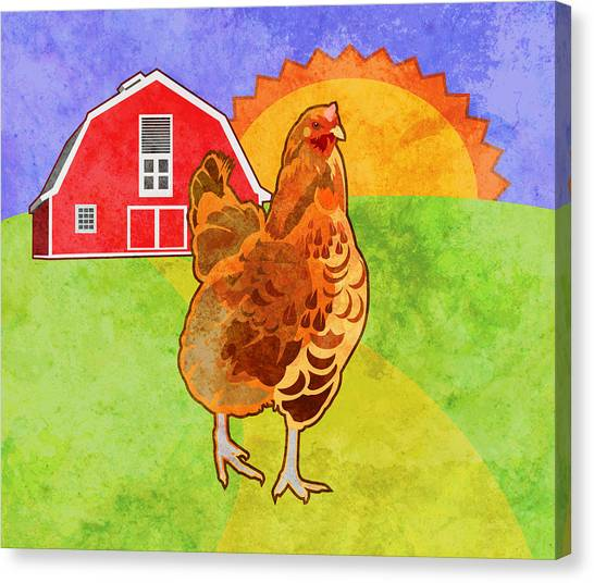 Roosters Canvas Print - Rooster by Mary Ogle