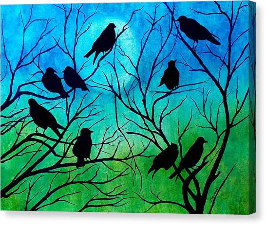 Roosting Birds Canvas Print
