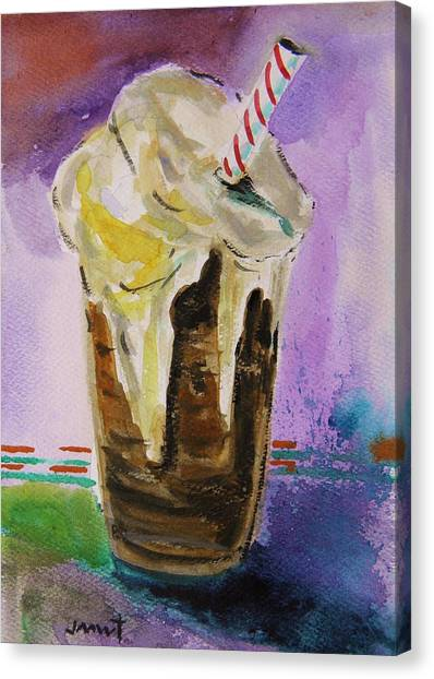 Root Beer Float Canvas Print
