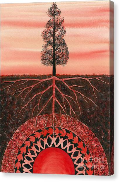 Root Chakra Canvas Print by Catherine G McElroy