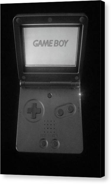 Gameboy Canvas Print - Root Of All Evil......really Mom by WaLdEmAr BoRrErO