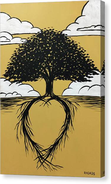 Canvas Print featuring the painting Rooted In Love by Nathan Rhoads