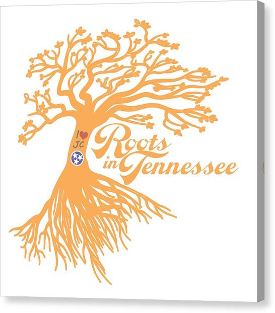 University Of Memphis Canvas Print - Roots In Tn Orange by Heather Applegate