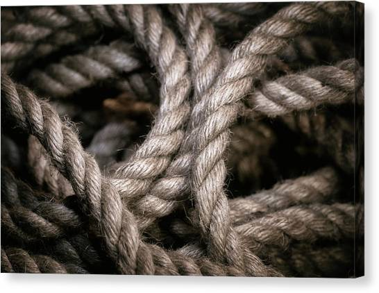 Rope Canvas Print - Rope Abstract by Tom Mc Nemar