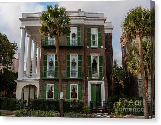 Roper Mansion In December Canvas Print