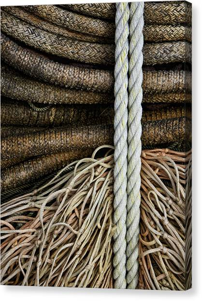 Rope Canvas Print - Ropes And Fishing Nets by Carol Leigh