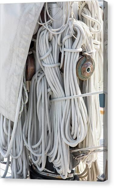 Ropes Of A Sailboat Canvas Print