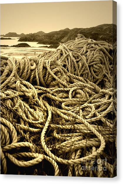 Ropes On Shore Canvas Print