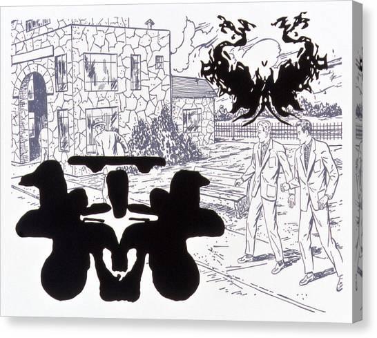Rorschach 3 Angel Of Death Canvas Print by Karl Frey