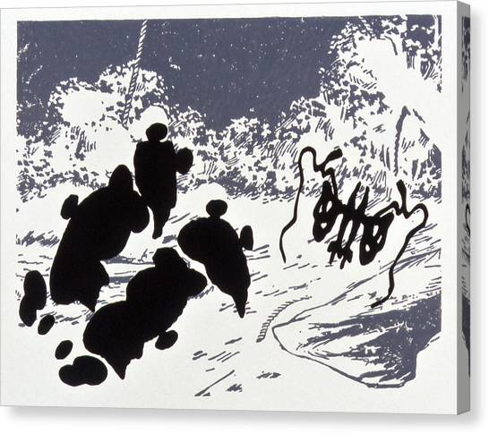 Rorschach 4 Pearls Before Swine Canvas Print by Karl Frey