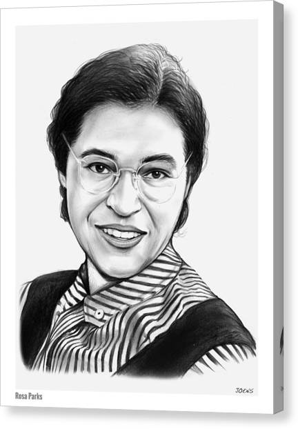 Rights Canvas Print - Rosa Parks by Greg Joens