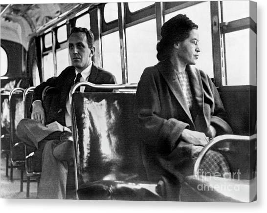 Racism Canvas Print - Rosa Parks On The Bus by American School