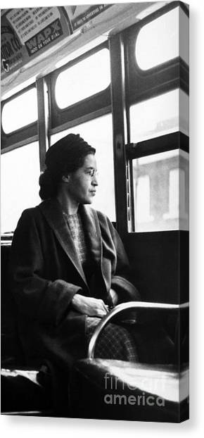 Racism Canvas Print - Rosa Parks Sitting On A Bus In Montgomery, Alabama by American School