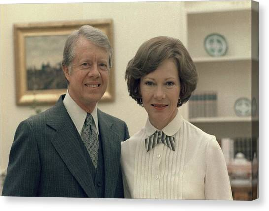 First Lady Canvas Print - Rosalynn Carter And Jimmy Carter by Everett