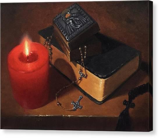 Rosary Meditation Canvas Print by Timothy Jones