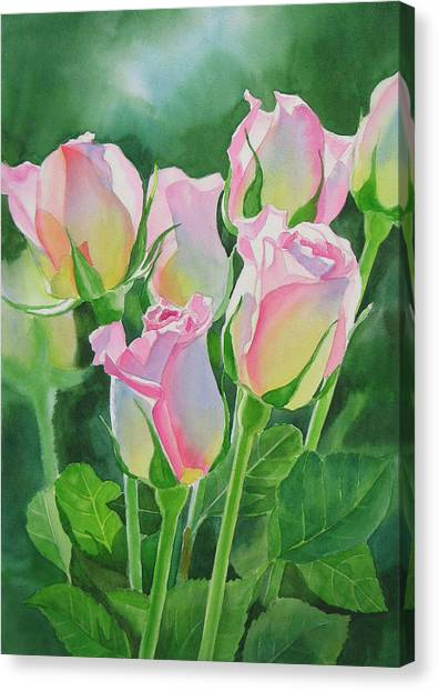 Flower Canvas Print - Rose Array by Sharon Freeman