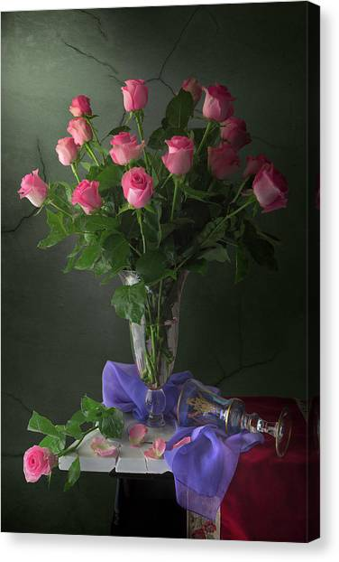 Rose Blossoms Canvas Print