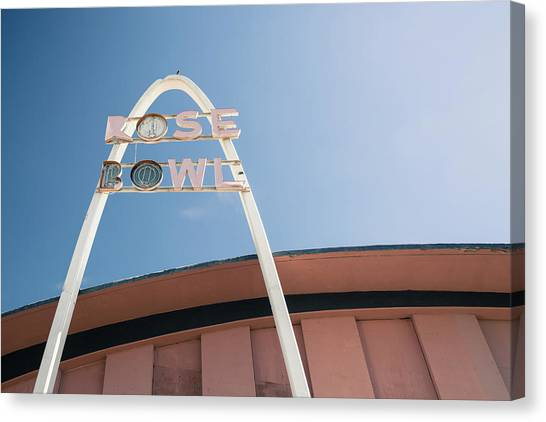 Historic Route 66 Canvas Print - Rose Bowl Tulsa Route 66 by Gregory Ballos
